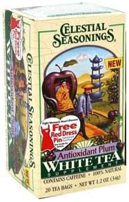 Celestial Seasonings White Tea Antioxidant Plum