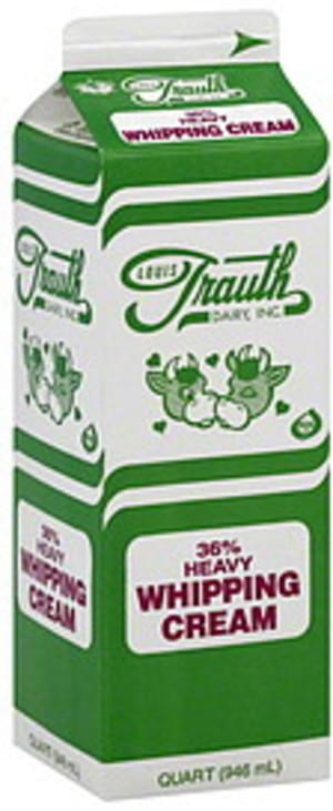 Louis Trauth Dairy Heavy, 36% Whipping Cream - 1 QT