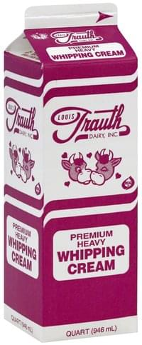 Louis Trauth Dairy Heavy Whipping Cream - 1 QT
