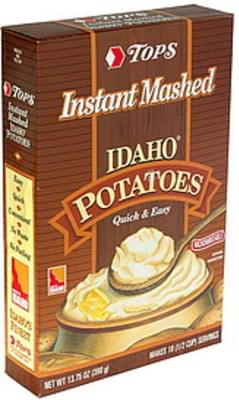 Tops Instant Mashed Potatoes Idaho