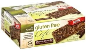 Gluten Free Cafe Chocolate Sesame Bar