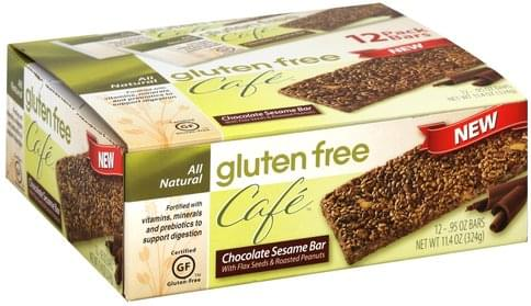 Gluten Free Cafe Chocolate Sesame Bar - 12 ea