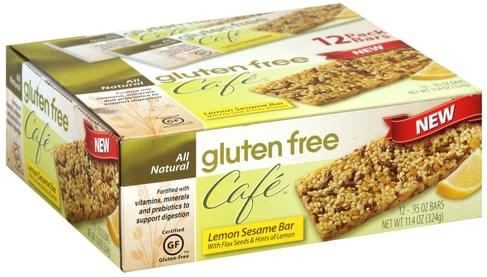 Gluten Free Cafe Lemon Sesame Bar - 12 ea