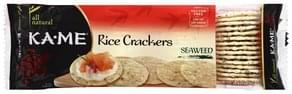 Ka Me Rice Crackers Seaweed
