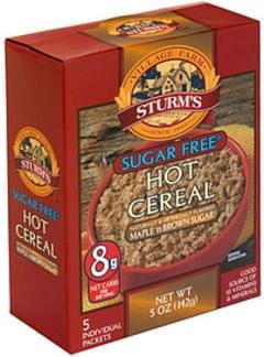 Sturms Sugar Free Hot Cereal Maple 'n Brown Sugar