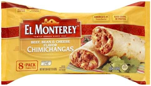 El Monterey Beef, Bean & Cheese Flavor, 8-Pack Family Size
