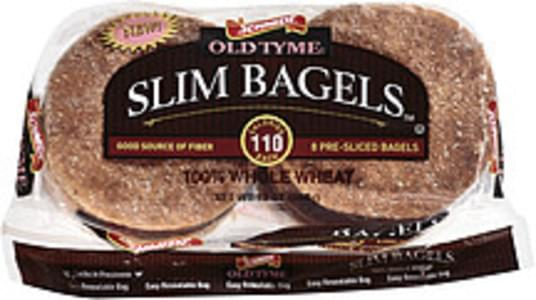 Old Tyme Bagels Whole Wheat Slim