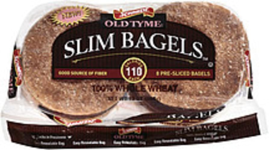 Old Tyme Whole Wheat Slim Bagels - 13 oz