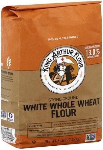 King Arthur Flour White Whole Wheat, Stone-Ground Flour - 5 lb