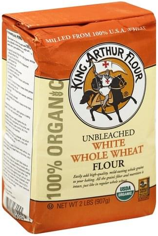 King Arthur Flour 100% Organic, Unbleached White Whole Wheat Flour - 2 lb