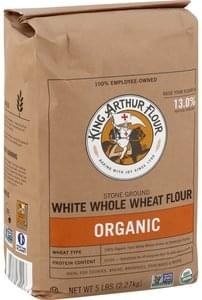 King Arthur Flour Whole Wheat Flour Flour, White Whole Wheat, Stone-Ground, Organic