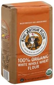 King Arthur Flour Flour 100% Organic, White Whole Wheat