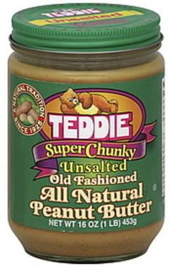 Teddie Peanut Butter Unsalted, Super Chunky