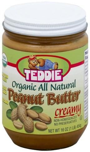 Teddie Organic All Natural, Creamy Peanut Butter - 16 oz