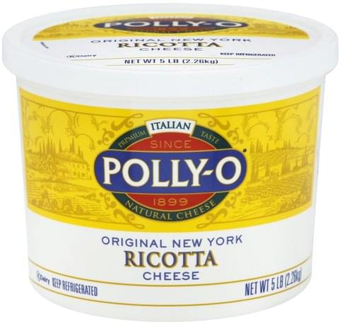 Polly O Ricotta, Original New York Cheese - 5 lb