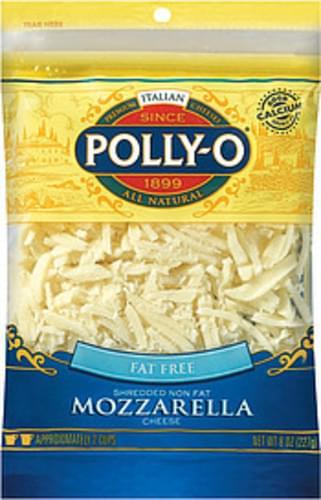 Polly-O Mozzarella Fat Free Shredded Cheese - 8 oz