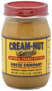 Cream Nut Peanut Butter Natural, Smooth