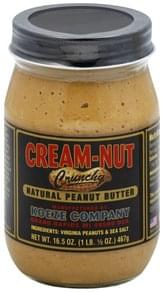 Cream Nut Peanut Butter Natural, Crunchy