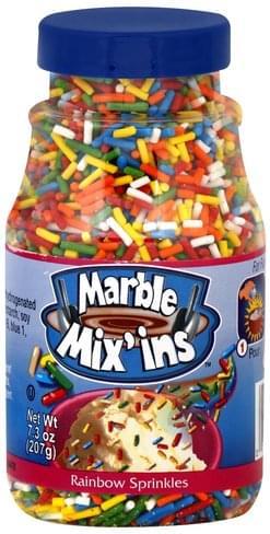Marble Mix Ins Rainbow Sprinkles - 7 3 oz, Nutrition