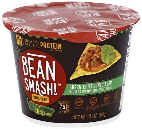Bean Smash Green Chile Pinto Bean Snack or Dip - 2 oz