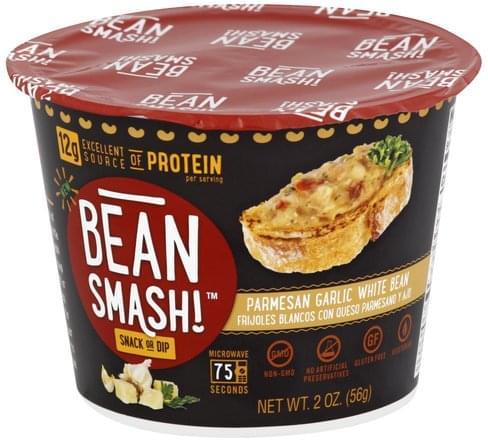 Bean Smash Parmesan Garlic White Bean Snack or Dip - 2 oz