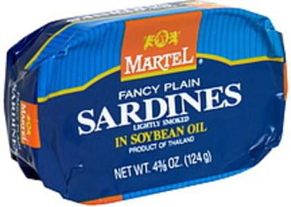 Martel Fancy Plain Sardines in Soybean Oil, Lightly Smoked