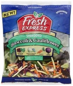 Fresh Express Salad Broccoli & Cauliflower, Shredded