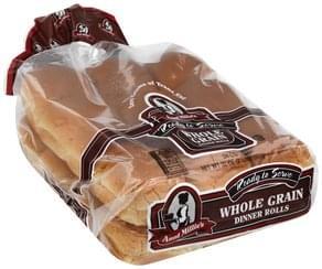 Aunt Millies Dinner Rolls Whole Grain