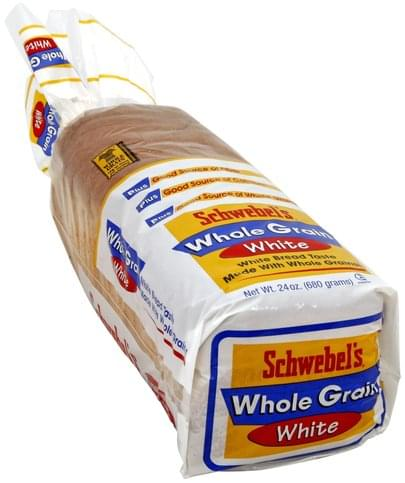 Schwebels White, Whole Grain Bread - 24 oz