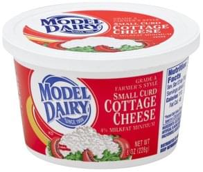 Model Dairy Cottage Cheese Small Curd, 4% Milkfat Minimum, Farmer's Style