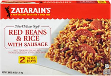 Zatarain's Frozen Entree New Orleans Style Red Beans and Rice With Sausage