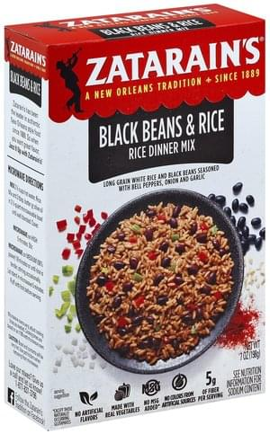 Zatarains Black Beans & Rice Rice Dinner Mix - 7 oz