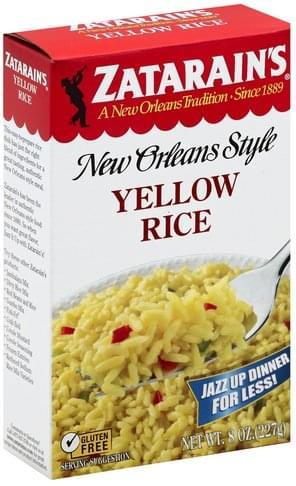 Zatarains Yellow Rice - 8 oz, Nutrition