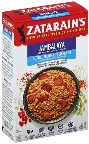 Zatarains Reduced Sodium, Jambalaya Rice Dinner Mix - 8 oz