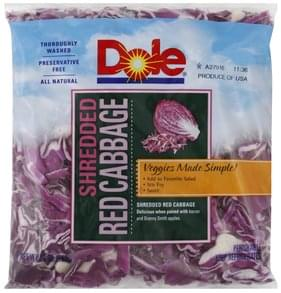 Dole Red Cabbage Shredded
