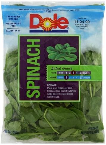 Dole Spinach - 9 oz