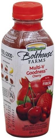 Bolthouse Farms Multi-V Goodness, Cherry 100% Fruit Juice Smoothie - 15.2 oz