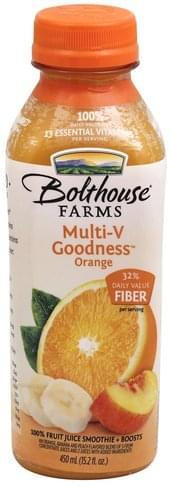 Bolthouse Farms Orange 100% Fruit Juice Smoothie + Boosts - 15.2 oz