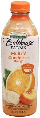Bolthouse Farms Orange 100% Fruit Juice Smoothie + Boosts - 32 oz