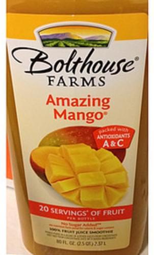 Bolthouse Farms Amazing Mango Juice Smoothie - 240 ml