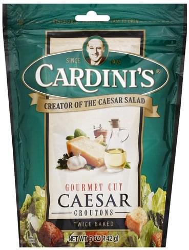 Cardinis Caesar, Gourmet Cut Croutons - 5 oz