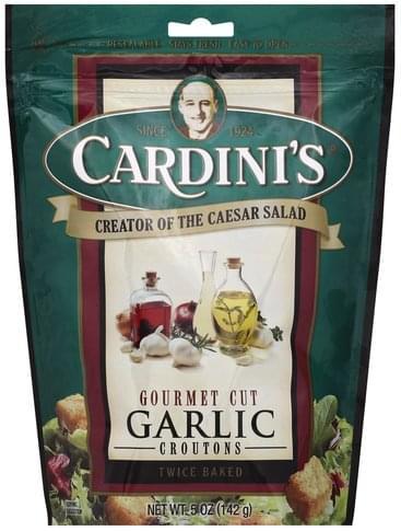 Cardinis Gourmet Cut, Garlic Croutons - 5 oz