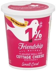 Friendship Cottage Cheese 1% Milkfat, Small Curd