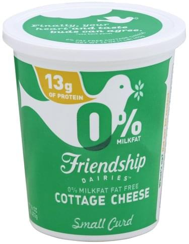 Wondrous Friendship Small Curd 0 Milkfat Fat Free Cottage Cheese Home Interior And Landscaping Fragforummapetitesourisinfo