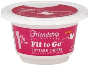 Friendship Cottage Cheese 1% Milkfat, Small Curd, with Pineapple