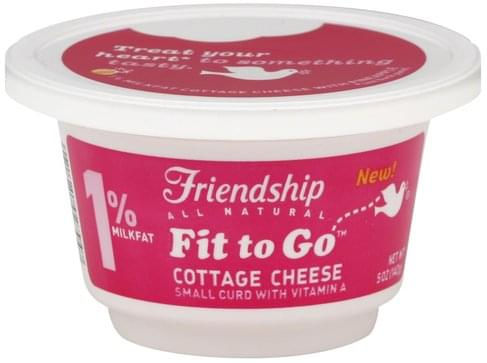 Friendship 1% Milkfat, Small Curd, with Pineapple Cottage Cheese - 5 oz