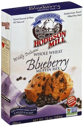 Hodgson Mill Blueberry, Whole Wheat Muffin Mix - 10 oz