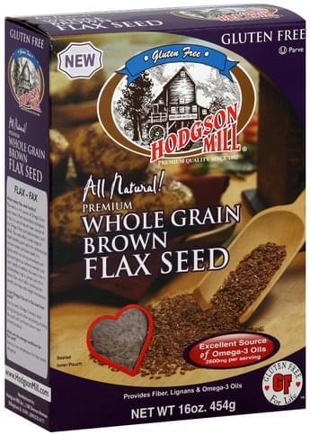 Hodgson Mill Whole Grain, Brown Flax Seed - 16 oz
