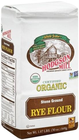 Hodgson Mill Stone Ground, Rye, Organic Flour - 30 oz