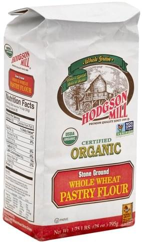 Hodgson Mill Pastry, Stone Ground, Whole Wheat, Organic Flour - 28 oz